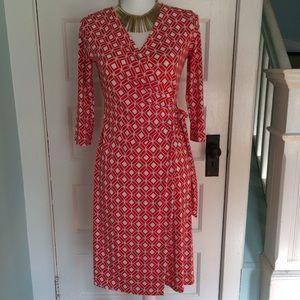 Gilli Carenza Faux Wrap Jersey Stitch Fix Dress S
